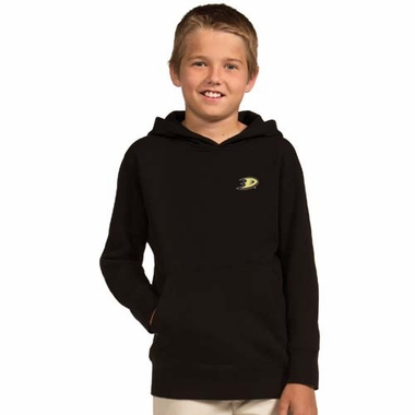 Anaheim Ducks YOUTH Boys Signature Hooded Sweatshirt (Team Color: Black)