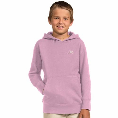 Anaheim Ducks YOUTH Girls Signature Hooded Sweatshirt (Color: Pink)