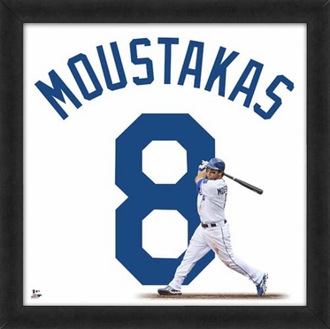 "Mike Moustakas, Royals UNIFRAME 20"" x 20"""