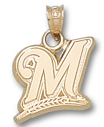 Milwaukee Brewers 10K Gold Pendant