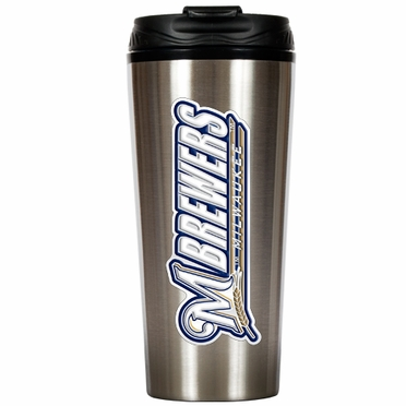Milwaukee Brewers 16 oz. Thermo Travel Tumbler