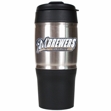 Milwaukee Brewers 18oz Oversized Travel Tumbler