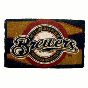 Milwaukee Brewers 18x30 Bleached Welcome Mat