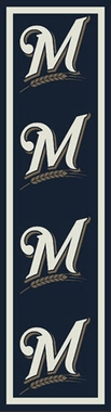 "Milwaukee Brewers 2'1"" x 7'8"" Premium Runner Rug"