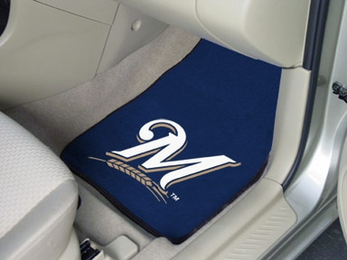 Milwaukee Brewers 2 Piece Car Mats