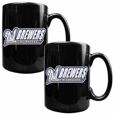 Milwaukee Brewers 2 Piece Coffee Mug Set (Wordmark)