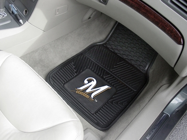 Milwaukee Brewers 2 Piece Heavy Duty Vinyl Car Mats