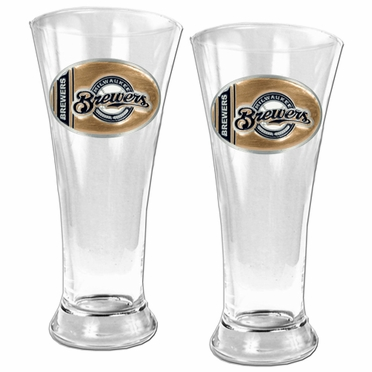 Milwaukee Brewers 2 Piece Pilsner Glass Set