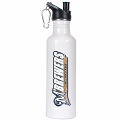 Milwaukee Brewers 26oz Stainless Steel Water Bottle (White)