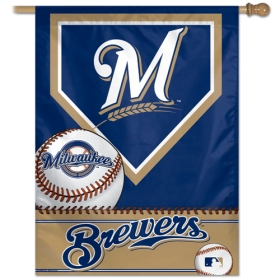 "Milwaukee Brewers 27"" x 37"" Banner"