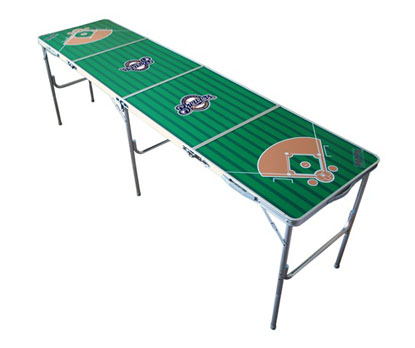 Milwaukee Brewers 2x8 Tailgate Table