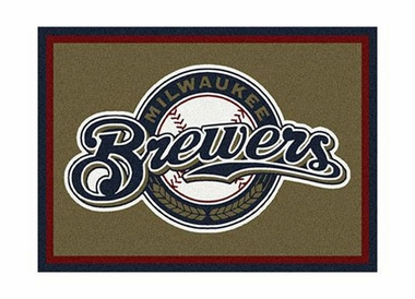 "Milwaukee Brewers 3'10"" x 5'4"" Premium Spirit Rug"