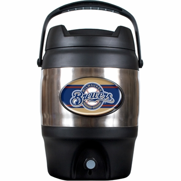 Milwaukee Brewers 3 Gallon Stainless Steel Jug