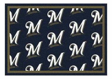"Milwaukee Brewers 5'4"" x 7'8"" Premium Pattern Rug"