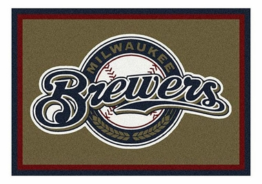 "Milwaukee Brewers 5'4"" x 7'8"" Premium Spirit Rug"