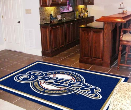 Milwaukee Brewers 5 Foot x 8 Foot Rug