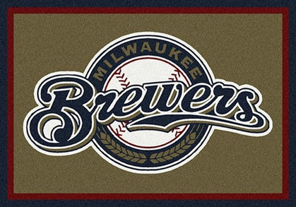 "Milwaukee Brewers 7'8"" x 10'9"" Premium Spirit Rug"