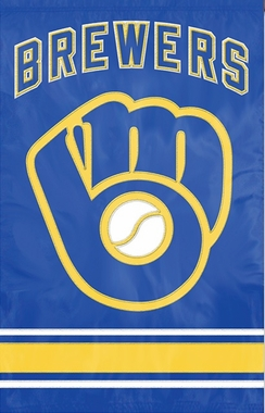 Milwaukee Brewers Applique Banner Flag