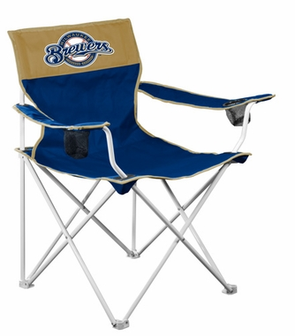 Milwaukee Brewers Big Boy Adult Folding Logo Chair