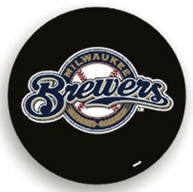 Milwaukee Brewers Black Tire Cover (Small Size)