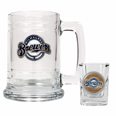 Milwaukee Brewers Boilermaker Set