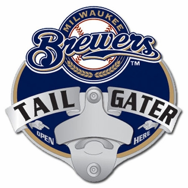 Milwaukee Brewers Bottle Opener Hitch Cover