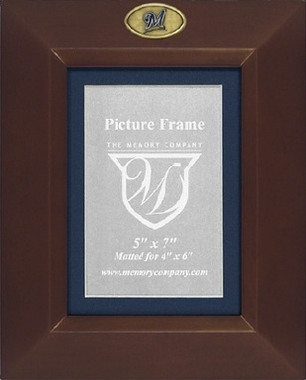 Milwaukee Brewers BROWN Portrait Picture Frame