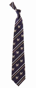Milwaukee Brewers Cambridge Woven Silk Necktie