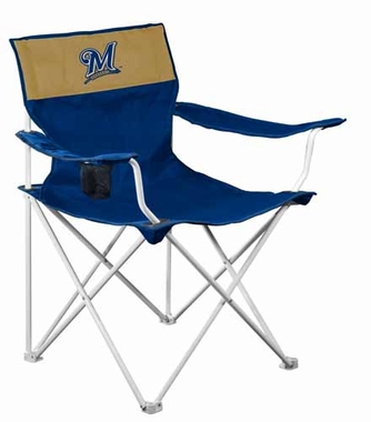 Milwaukee Brewers Canvas Adult Folding Logo Chair