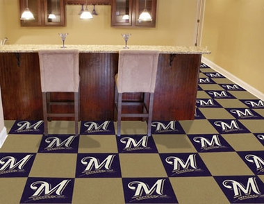 Milwaukee Brewers Carpet Tiles