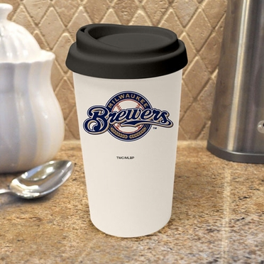 Milwaukee Brewers Ceramic Travel Cup