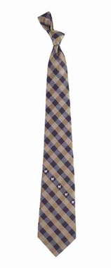 Milwaukee Brewers Check Poly Necktie