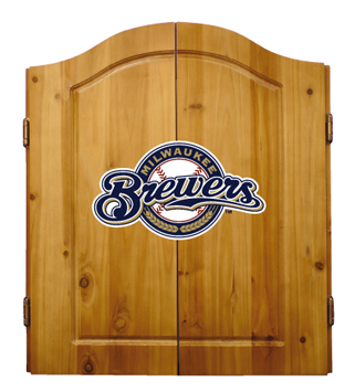 Milwaukee Brewers Complete Dart Cabinet