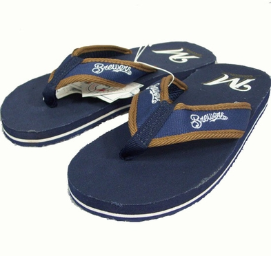 Milwaukee Brewers Contoured Flip Flop Sandals