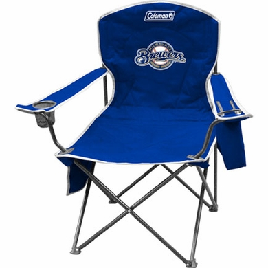 Milwaukee Brewers Cooler Quad Tailgate Chair