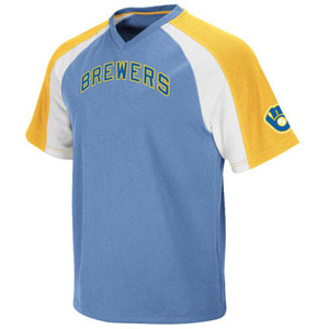 Milwaukee Brewers Cooperstown V-Neck Crusader Jersey - Small