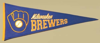 Milwaukee Brewers Cooperstown Wool Pennant