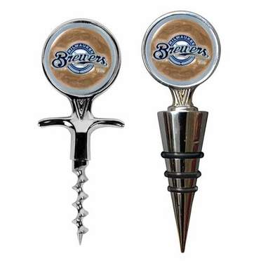 Milwaukee Brewers Corkscrew and Stopper Gift Set