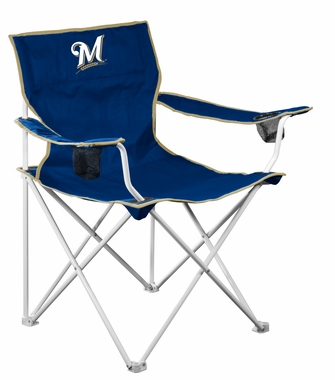 Milwaukee Brewers Deluxe Adult Folding Logo Chair