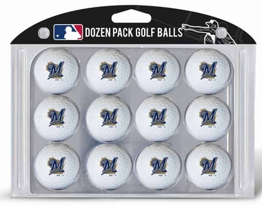 Milwaukee Brewers Dozen Golf Balls