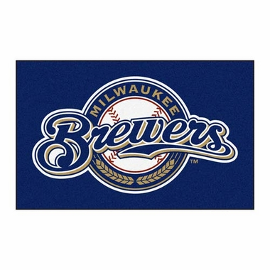 Milwaukee Brewers Economy 5 Foot x 8 Foot Mat