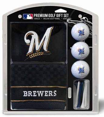 Milwaukee Brewers Embroidered Towel Gift Set