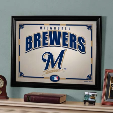 Milwaukee Brewers Framed Mirror