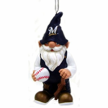 Milwaukee Brewers Gnome Christmas Ornament