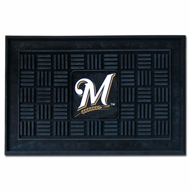 Milwaukee Brewers Heavy Duty Vinyl Doormat