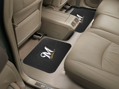 Milwaukee Brewers SET OF 2 Heavy Duty Vinyl Rear Car Mats