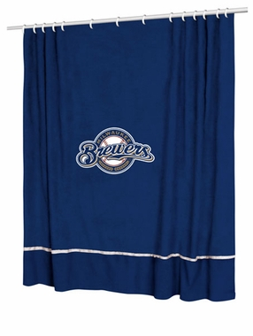 Milwaukee Brewers Jersey Material Shower Curtain