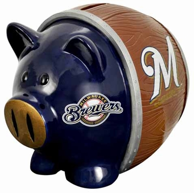 Milwaukee Brewers Piggy Bank - Thematic Large