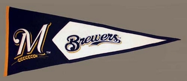Milwaukee Brewers Large Wool Pennant