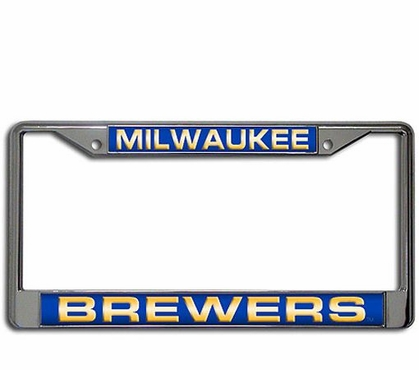 Milwaukee Brewers Laser Etched Chrome License Plate Frame